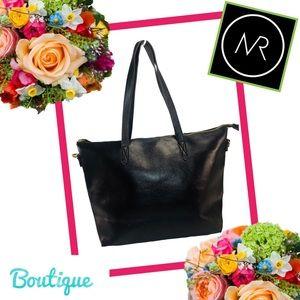 Handbags - BOUTIQUE Black Vegan XL Tote